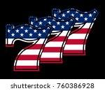triple lucky stars and strips... | Shutterstock .eps vector #760386928