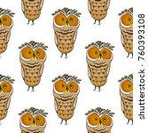 seamless pattern with funny pop ... | Shutterstock .eps vector #760393108