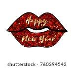 happy new year 2018  shining...   Shutterstock .eps vector #760394542