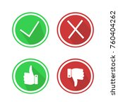 set red and green icons buttons.... | Shutterstock .eps vector #760404262