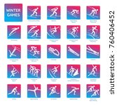 winter sport games competition... | Shutterstock .eps vector #760406452