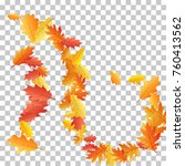 bunch of oak leaves  abstract... | Shutterstock .eps vector #760413562