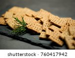homemade cheese whole grain... | Shutterstock . vector #760417942