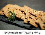 homemade cheese whole grain... | Shutterstock . vector #760417942