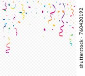 colorful tiny confetti and... | Shutterstock .eps vector #760420192