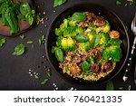 dietary menu. healthy vegan... | Shutterstock . vector #760421335