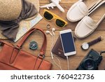 travel accessories costumes for ... | Shutterstock . vector #760422736