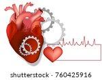 heart with gears  vector... | Shutterstock .eps vector #760425916