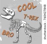 t rex dinosaur skeleton... | Shutterstock .eps vector #760427848