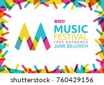 idea for poster of music event. ...   Shutterstock .eps vector #760429156