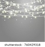 christmas lights isolated on... | Shutterstock .eps vector #760429318