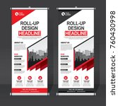 roll up banner design template  ... | Shutterstock .eps vector #760430998