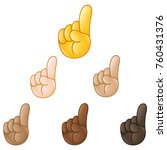 index pointing up hand emoji... | Shutterstock .eps vector #760431376