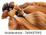 natural colored shiny healthy... | Shutterstock . vector #760437592