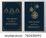merry christmas and happy new... | Shutterstock . vector #760438492