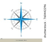 compass rose vector template | Shutterstock .eps vector #760442296