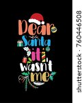 christmas quote  lettering.... | Shutterstock .eps vector #760446508
