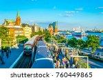 hamburg  germany  august 29 ... | Shutterstock . vector #760449865