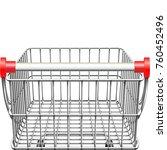 vector supermarket cart rear... | Shutterstock .eps vector #760452496