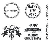 new year and merry christmas... | Shutterstock .eps vector #760463656