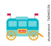 circus trailer  wagon icon flat ... | Shutterstock .eps vector #760465156