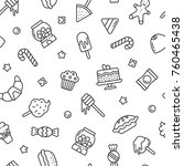 seamless pattern with sweets ... | Shutterstock .eps vector #760465438