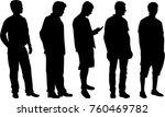 black silhouette of a man.   Shutterstock .eps vector #760469782