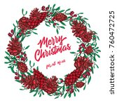 decorated merry christmas... | Shutterstock . vector #760472725