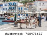 hydra  greece   may 30  the... | Shutterstock . vector #760478632