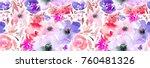 seamless pattern of hand made... | Shutterstock . vector #760481326