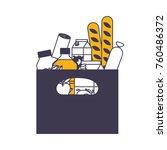 rectangular paper bag with... | Shutterstock .eps vector #760486372