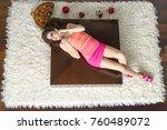 top view to lying down women | Shutterstock . vector #760489072