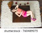 top view to lying down women | Shutterstock . vector #760489075