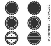 vector stamp without text. set... | Shutterstock .eps vector #760491232