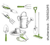 vector hand drawn set with... | Shutterstock .eps vector #760502695
