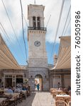 hydra  greece   may 30  the old ... | Shutterstock . vector #760505986