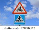 traffic signs pedestrian... | Shutterstock . vector #760507192