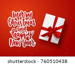 greeting card. hand drawn... | Shutterstock .eps vector #760510438