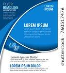 vector brochure  flyer ... | Shutterstock .eps vector #760517476