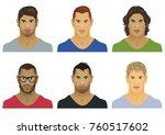 vector illustration of six male ... | Shutterstock .eps vector #760517602