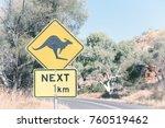in australia  the sign for wild ... | Shutterstock . vector #760519462