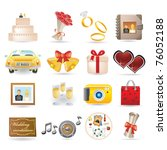 wedding icon set | Shutterstock .eps vector #76052188