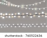 christmas lights isolated on... | Shutterstock .eps vector #760522636