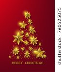 christmas background with stars | Shutterstock .eps vector #760525075