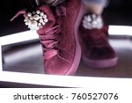 fashion sneakers. lighting... | Shutterstock . vector #760527076