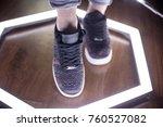 fashion sneakers. lighting... | Shutterstock . vector #760527082