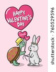 happy valentine's day greeting... | Shutterstock .eps vector #760529596