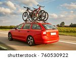 family car is transporting... | Shutterstock . vector #760530922