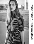 close up fashion portrait of a... | Shutterstock . vector #760533052