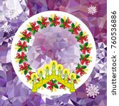 holiday background with...   Shutterstock .eps vector #760536886